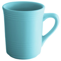 Tuxton CIM-085 Concentrix 8 oz. Island Blue China Gala Mug - 24/Case