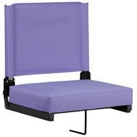 Flash Furniture XU-STA-PUR-GG Grandstand Purple Ultra-Padded Bleacher Comfort Seat