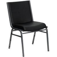 Flash Furniture XU-60153-BK-VYL-GG Hercules Series Heavy-Duty Black Vinyl Stack Chair
