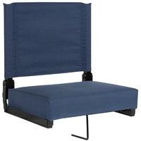 Flash Furniture XU-STA-NAVY-GG Grandstand Navy Blue Ultra-Padded Bleacher Comfort Seat