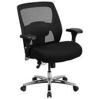 Flash Furniture GO-99-3-GG Hercules Series Big & Tall Mid-Back Black Mesh Office Chair