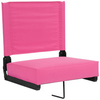 Flash Furniture XU-STA-PK-GG Grandstand Pink Ultra-Padded Bleacher Comfort Seat