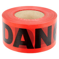 Red DANGER Tape - 3 inch x 1000 ft.