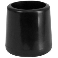 Flash Furniture LE-L-3-BK-CAPS-GG Black Replacement Foot Cap for Plastic Folding Chairs