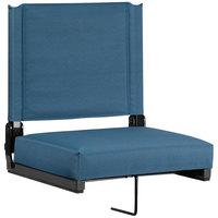 Flash Furniture XU-STA-GN-GG Grandstand Teal Ultra-Padded Bleacher Comfort Seat
