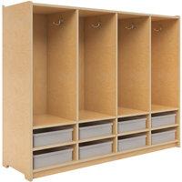 Whitney Brothers WB3904 48 inch x 14 inch x 42 inch Eight Section Preschool Coat Locker with Bins