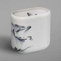 Dao Collection Splash Matte Resin 8 Qt. Wastebasket