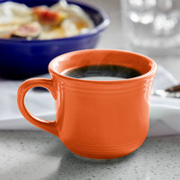 Tuxton CPF-0702 Concentrix 8 oz. Papaya Round China Cup - 24/Case