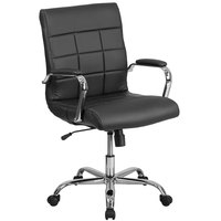 Flash Furniture GO-2240-BK-GG Mid-Back Black Quilted Vinyl Office Chair