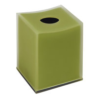 Moss Collection Matte Resin Square Tissue Box Cover