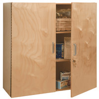 Whitney Brothers WB3535 36 inch x 14 3/4 inch x 36 inch Lockable Wall Mounted Cabinet