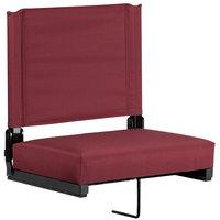 Flash Furniture XU-STA-M-GG Grandstand Maroon Ultra-Padded Bleacher Comfort Seat