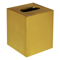 Cairo Collection Gold Stainless Steel Square Tissue Box Cover