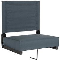 Flash Furniture XU-STA-DKBL-GG Grandstand Dark Blue Ultra-Padded Bleacher Comfort Seat