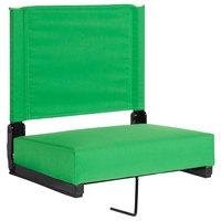 Flash Furniture XU-STA-BGR-GG Grandstand Bright Green Ultra-Padded Bleacher Comfort Seat
