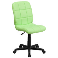 Flash Furniture GO-1691-1-GREEN-GG Mid-Back Green Quilted Vinyl Office Chair / Task Chair