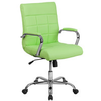 Flash Furniture GO-2240-GN-GG Mid-Back Green Quilted Vinyl Office Chair