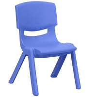 Flash Furniture YU-YCX-003-BLUE-GG Blue Plastic Stackable School Chair