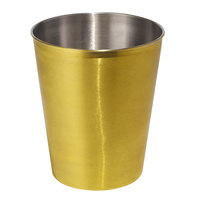 Cairo Collection Gold Stainless Steel 9 Qt. Wastebasket