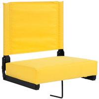 Flash Furniture XU-STA-YL-GG Grandstand Yellow Ultra-Padded Bleacher Comfort Seat