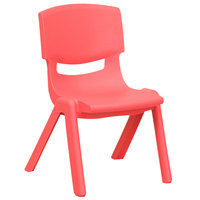 Flash Furniture YU-YCX-003-RED-GG Red Plastic Stackable School Chair