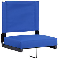 Flash Furniture XU-STA-BL-GG Grandstand Blue Ultra-Padded Bleacher Comfort Seat