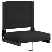 Flash Furniture XU-STA-BK-GG Grandstand Black Ultra-Padded Bleacher Comfort Seat
