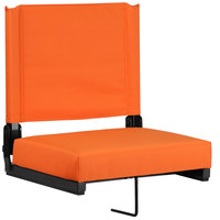 Flash Furniture XU-STA-OR-GG Grandstand Orange Ultra-Padded Bleacher Comfort Seat