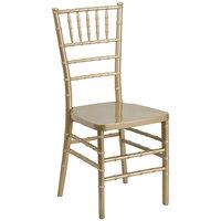 Flash Furniture LE-GOLD-GG Hercules Premium Series Gold Resin Stacking Chiavari Chair