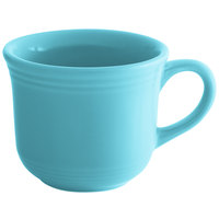 Tuxton CIF-0702 Concentrix 8 oz. Island Blue Round China Cup - 24/Case