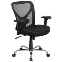 Flash Furniture GO-2032-GG Hercules Series Big & Tall Mid-Back Black Mesh Office Chair