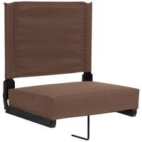 Flash Furniture XU-STA-BRN-GG Grandstand Brown Ultra-Padded Bleacher Comfort Seat