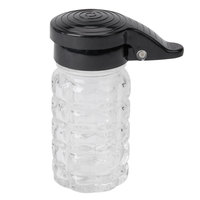 Tablecraft 163MPBK 1.5 oz. Glass Shaker with Black Moisture Proof ABS Top - 24/Case