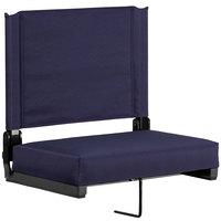 Flash Furniture XU-STA-NVY-GG Grandstand Navy Ultra-Padded Bleacher Comfort Seat