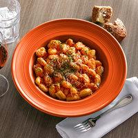 Tuxton CPD-120 Concentrix 24.5 oz. Papaya China Soup / Pasta Bowl - 6/Case