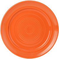 Tuxton CPA-104 Concentrix 10 1/2 inch Papaya China Plate - 12/Case