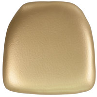 Flash Furniture BH-GOLD-HARD-VYL-GG Gold Hard Vinyl Chiavari Chair Cushion - 2 inch Thick