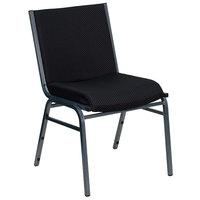 Flash Furniture XU-60153-BK-GG Hercules Series Heavy-Duty Black Dot Fabric Stack Chair