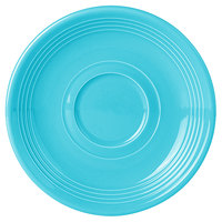 Tuxton CIE-060 Concentrix 6 inch Island Blue China Saucer - 24/Case