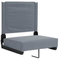 Flash Furniture XU-STA-GY-GG Grandstand Gray Ultra-Padded Bleacher Comfort Seat