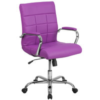 Flash Furniture GO-2240-PUR-GG Mid-Back Purple Quilted Vinyl Office Chair