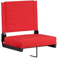 Flash Furniture XU-STA-RED-GG Grandstand Red Ultra-Padded Bleacher Comfort Seat
