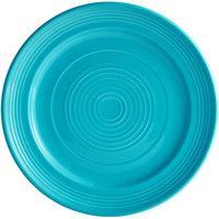 Tuxton CIA-104 Concentrix 10 1/2 inch Island Blue China Plate - 12/Case
