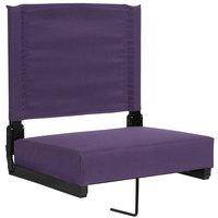Flash Furniture XU-STA-DKPUR-GG Grandstand Dark Purple Ultra-Padded Bleacher Comfort Seat