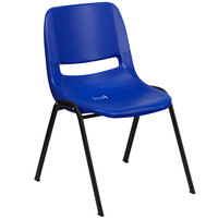 Flash Furniture RUT-EO1-BL-GG Hercules Series Blue Ergonomic Shell Stack Chair