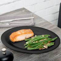 GET OP-120-BK 12 inch x 9 inch Black Elegance Oval Black Platter - 12/Case
