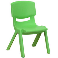 Flash Furniture YU-YCX-003-GREEN-GG Green Plastic Stackable School Chair