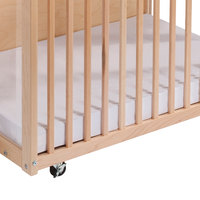 Whitney Brothers 112-770 White Poly / Cotton 24 1/4 inch x 38 1/4 inch Fitted Crib Sheet for Infant Size Mattresses
