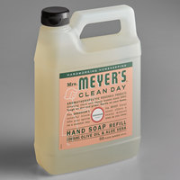 Mrs. Meyer's 651341 Clean Day 33 oz. Geranium Scented Hand Soap Refill - 6/Case