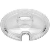 GET CD-8-C-2-CL Clear SAN Plastic Lid for 8 oz. Condiment Jar